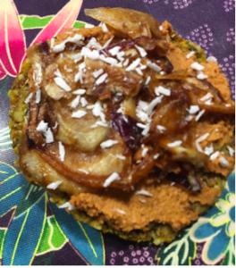 Cracker-oignons ca-raw-mélisés