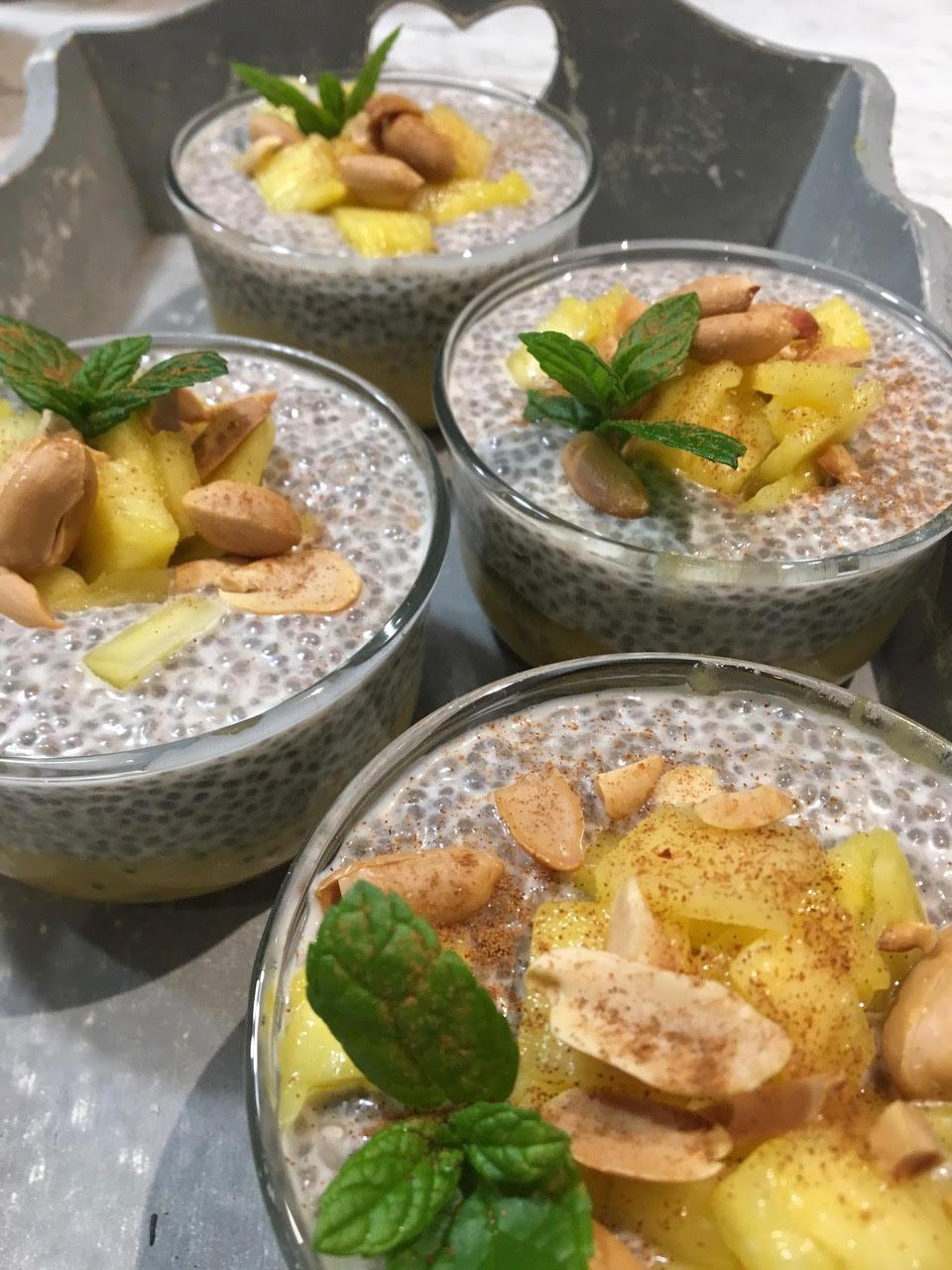 Pudding aux graines de chia et aux fruits de saison